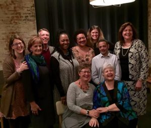 Miriam (seated, right) with members of the ILCA and WABA board and staff.